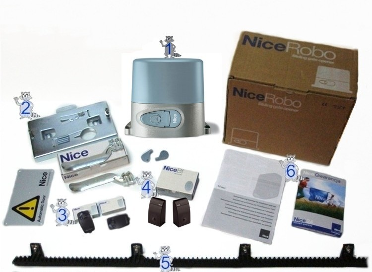 NICE Robo 500 - Uzaktan Kumandalı Yanakayar Bahçe Kapısı Motor Kiti