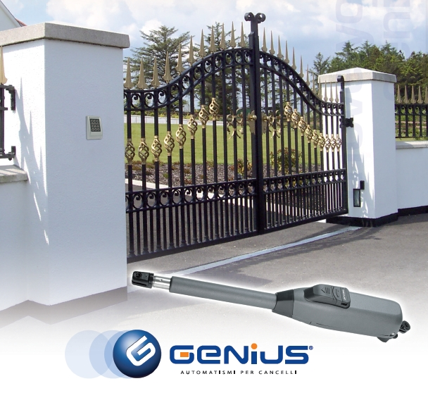 GENIUS Mistral, Uzaktan Kumandalı Dairesel açılır Bahçe Kapısı Motor Kiti